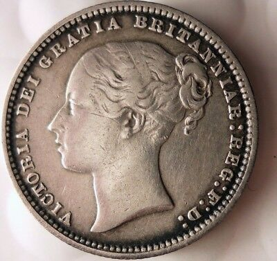 1874 GREAT BRITAIN SHILLING - VERY SCARCE - High Grade - Big Value Coin -Lot 920