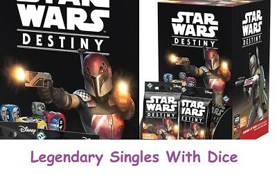 Star Wars Destiny - Empire at War - Legendary Singles with Dice