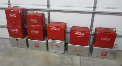 Lot of (12) Vintage Advertising Ice Chests/Coolers COCA COLA, 7UP, PEPSI, Ca