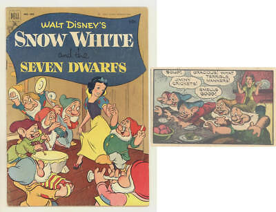 1952 SNOW WHITE & THE SEVEN DWARFS Dell 4-color #382 comic NICE
