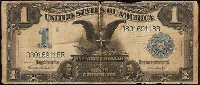 Large 1899 $1 Dollar Bill Silver Certificate Black Eagle Note Us Currency Money