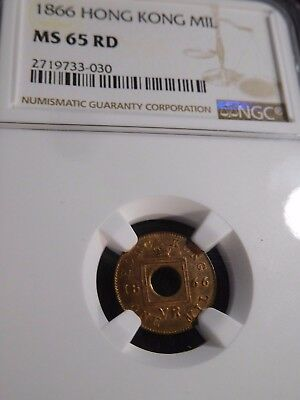 INV #T130 Hong Kong 1866 Mil NGC MS-65 Red