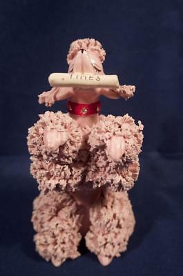 Vintage Pottery Spaghetti Poodle Fetching Paper Figurine