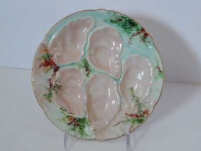 Antique Delinieres Limoges France Oyster Plate D & Co Signed