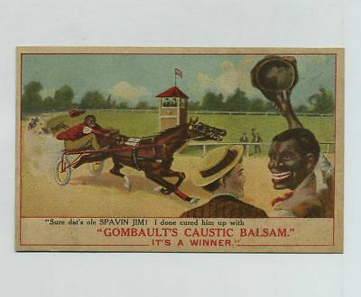 1800's Horse Harness Racing Black Americana Advertising Trade Card OH cv2352