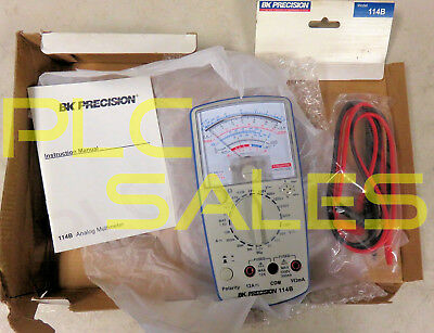 BK PRECISION 114B  |  20,000 Ohm/V Analog Multimeter with Leads  *NEW*