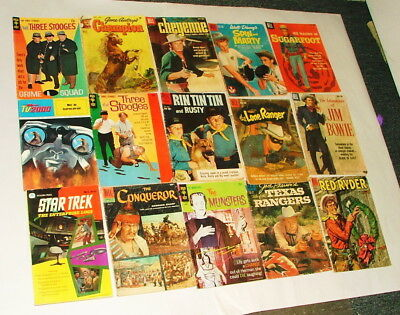 %  1960-70's Cowboy And Tv Show  Comic Book Collection Lot P-15