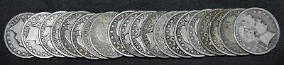 Roll of 20 Barber Half Dollars Mixed Dates FULL FRONTS & BACKS 90% Silver