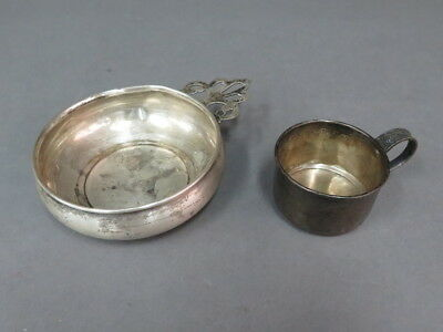 (2) Set Newport Sterling Silver Baby Cup 4571 & Baby Feeding Porringer Dish