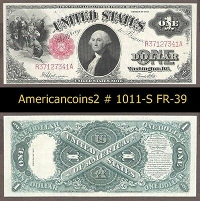 $1 1917 Red Seal FR 39 UNC  #1011-S