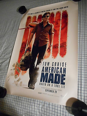 "Tom Cruise AMERICAN MADE orig movie poster one sheet DS 27""x40"" Mena Barry Seal"