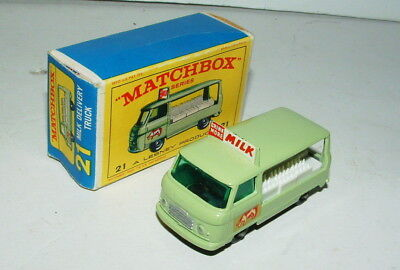 1960s MATCHBOX MILK DELIVERY TRUCK MINT UNUSED IN THE BOX