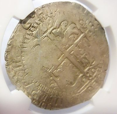 1654 Spanish Cob E Boliva 8 Reale Triple Date (NGC Graded) In Silver VF