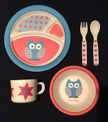 (New) Lily & George - Kids Bamboo Dinner Set