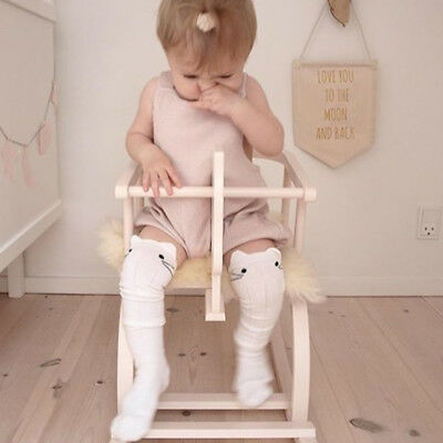 Baby Kids Girls Cute Toddlers Cotton Knee High Socks Tights Leg Age 0-4