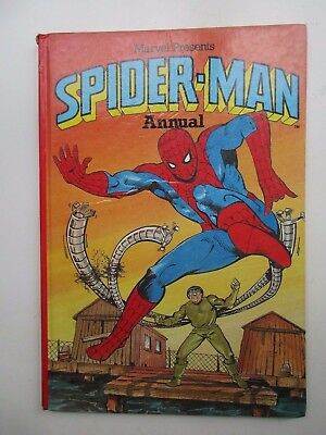 Vintage marvel  Annual spider-man spiderman  hardback 1981