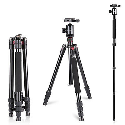 "Neewer Aluminum Alloy 64"" Camera Travel Tripod Monopod Stand with 360°Ball Head"