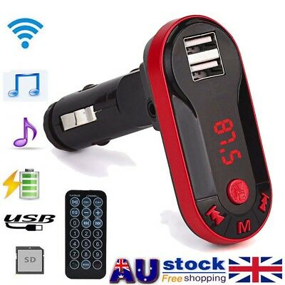 Bluetooth Wireless FM Transmitter MP3 Music Player Handsfree Car USB Remote AU~