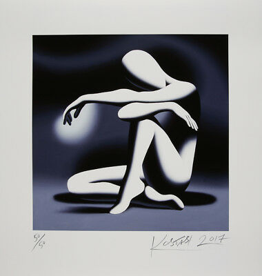 Mark Kostabi - Embracing the hour - handsigniert