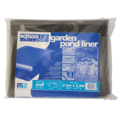 Hozelock 2 X 2.5M Pvc Garden Pond Liner With 15 Year Guarantee 0.5Mm Thickness