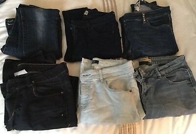 Ladies Size 10 Jeans Bundle Slim/skinny Next River Island F&F New Look