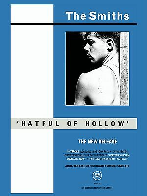 "The Smiths HATFUL OF HOLLOW 16"" x 12"" Photo Repro Promo  Poster"
