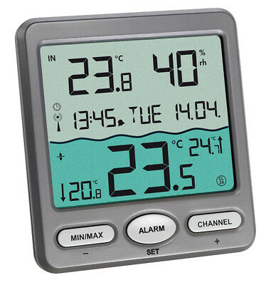 TFA 30.3056.10 Venice Funk Poolthermometer digital Teich Schwimmbadthermometer