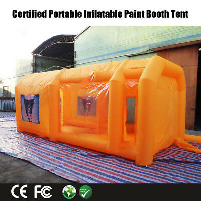 Giant Car Workstation Inflatable Spray Paint Booth Tent Custom 6*3*2.5m Express