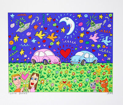 James Rizzi - Love Bugs - Farblithografie