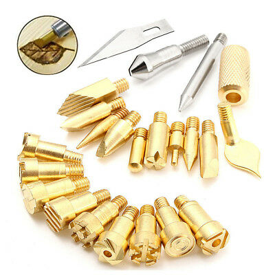 22Pcs Wood Burning Pen Tips Stencil Soldering Iron Pyrography Working Carving