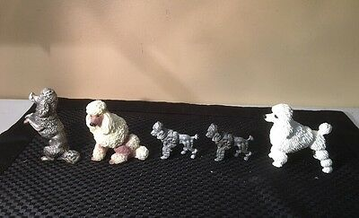 Lot of 5 Vintage Poodles Pewter Pacific Midwest Peltro Spoontiques #990ABFG