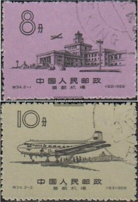 China 444-445 (complete issue) used 1959 Ai