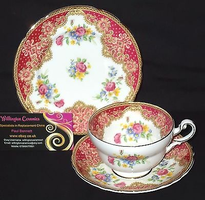 Paragon HONITON Cabinet Cup, Saucer and Side Plate - TRIO