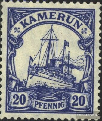 Cameroon (German. Colony) 23I A peace print with hinge 1914 Ship Imperial Yacht