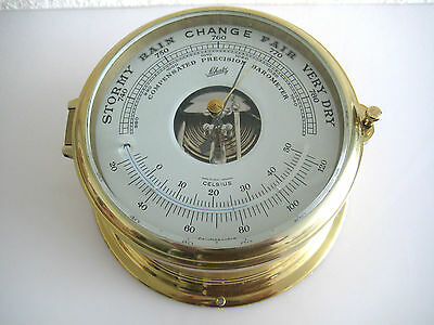 Schatz Barometer Thermometer Royal Mariner A.Schatz  Messing funktioniert