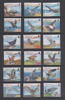 Alderney 2006 - 2008 Birds Mint MH Sets of 6, Sold Individual Years