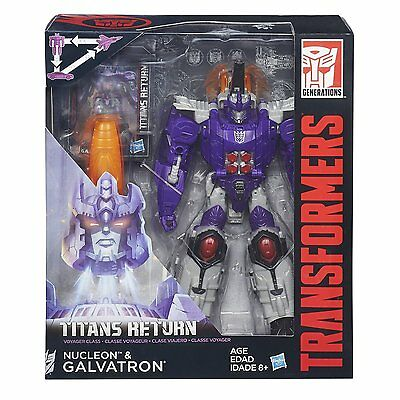 Transformers Generations Titans Return Voyager Class Galvatron and Nucleon NEW!