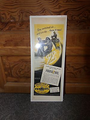 Vintage WWII Pennzoil Motor Oil Magazine Ad