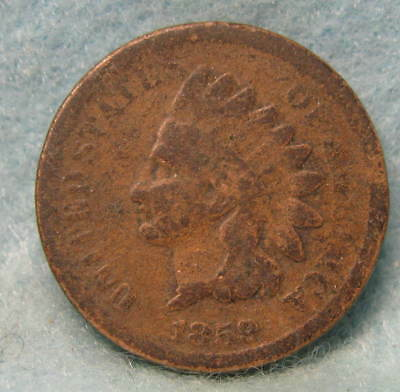 1859 Indian Head Penny * Circulated US Coin #1291