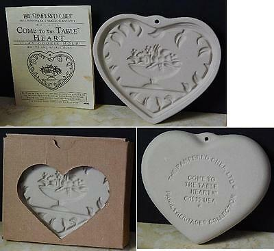 1999 Pampered Chef Come To The Table Heart Cookie Mold 2913 New In Box