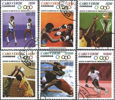Cape Verde 407-412 (complete issue) used 1980 Olympics Summer