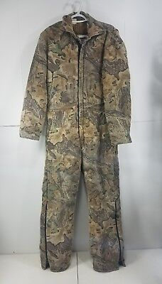 Pre Owned Boys Walls Blizzard Pruf  Insulated Realtree Camo Hunting Coveralls Y9