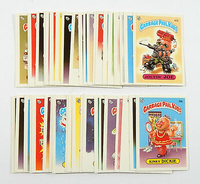 Lot of (43) 1985 Topps Garbage Pail Kids UK Mini Cards A & B Nm/Mt ^ No Dupes