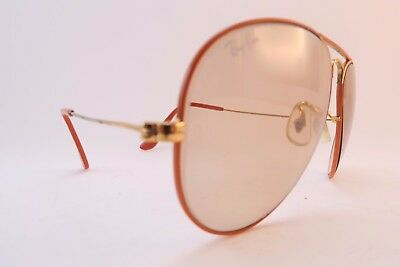 Vintage B&L Ray Ban COLORS aviator sunglasses USA etched BL 58-14