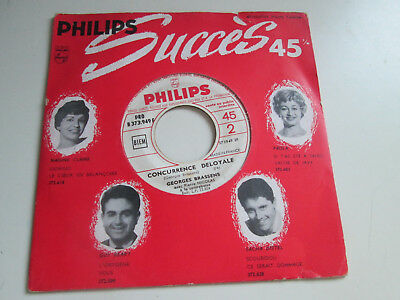 RARE   French SP 45t  vinyl  (7') 1960 GEORGES BRASSENS /CONCURRENCE  DELOYALE