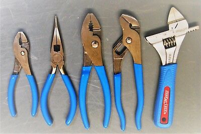 Channellock Pliers 5pc Mixed Set! 326,426,524,526,6SWCB