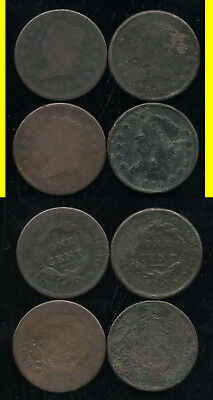 Lot Of 4 Classic Head Large Cents- 1810-1812-1814-1814- No Reserve