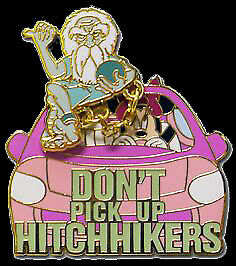 Disney Gear Adventure Haunted Mansion Minnie Gus Don't Pick Up Hitchhikers Pin