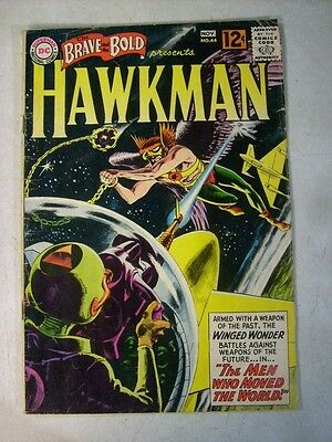 BRAVE AND THE BOLD #44 grey tone cover, KUBERT, EARLY HAWKMAN, 1962, HAWKGIRL