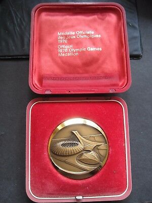 1976 Montreal Olympic Games Canada Official Medallion Medal With Original Box